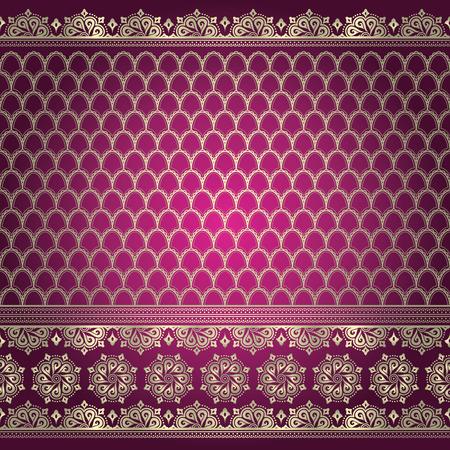 sari: Indian patr�n de fondo ornamental Vectores