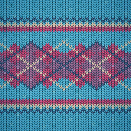 Seamless colorful knitting background pattern Illustration