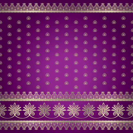 Indian ornamental background pattern Ilustrace