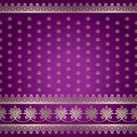 sari: Indian ornamental background pattern Illustration
