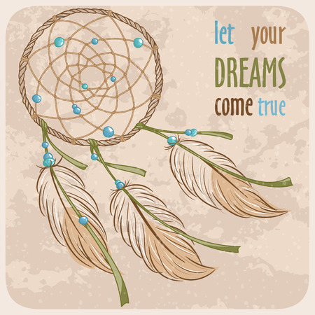 Dream-catcher Voorwerp van de Native American cultuur Stock Illustratie