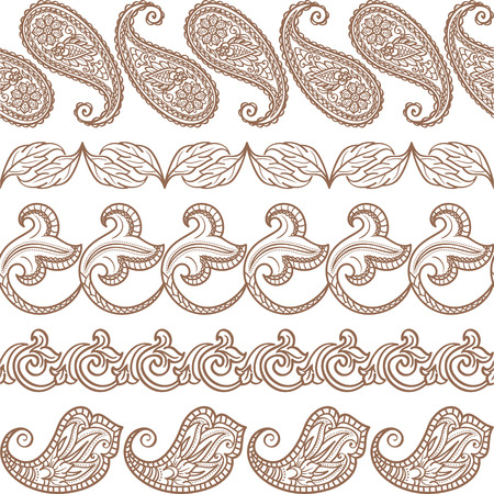 Set of seamless ethnic elements Vector