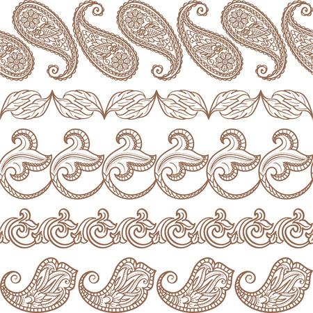 Set of seamless ethnic elements Vector