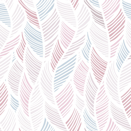 Seamless background pattern with abstract feathers Vector illuctration
