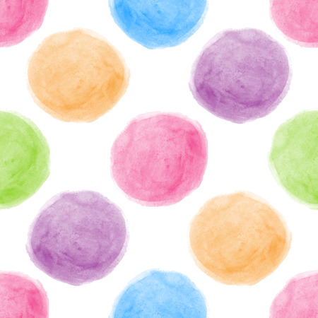 Seamless watercolor dot background.  Stock Illustratie