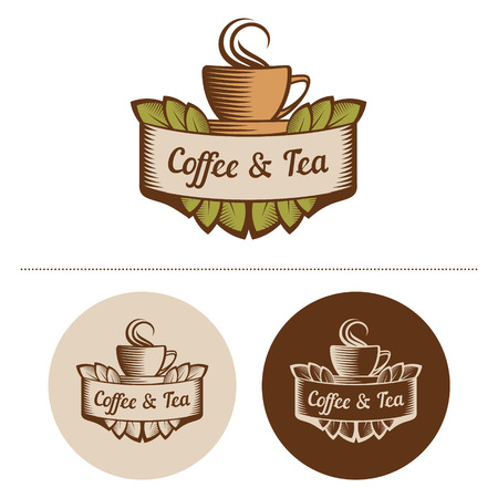 Coffee And Tea Logo Template  Vector Illustration  Vector