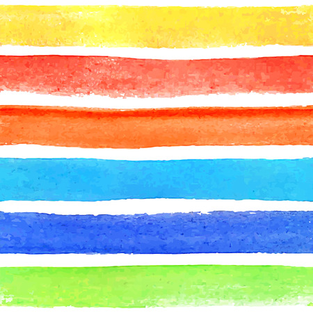 hand painted: Seamless Pattern with Hand Drawn Watercolor Colorful Lines  Vector Illustration