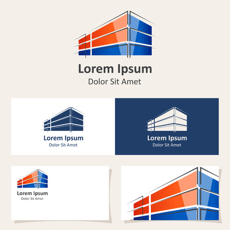 corporate buildings: design template with abstract building.