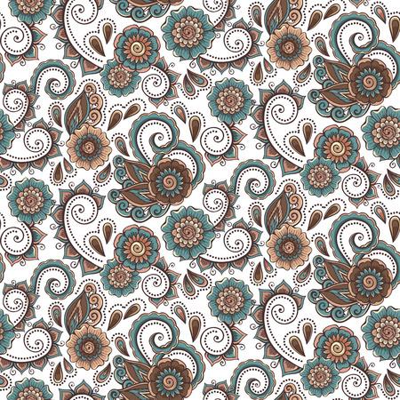 Estratto fiori decorativi di fondo del modello. Illustrazione vettoriale. Archivio Fotografico - 31905974