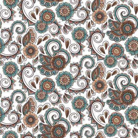 Abstract decorative flowers background pattern. Vector illustration.