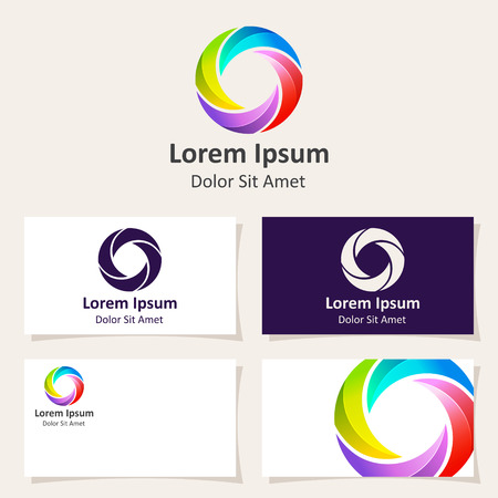 orb: Abstract sphere circle logo design template. Vector Icon.