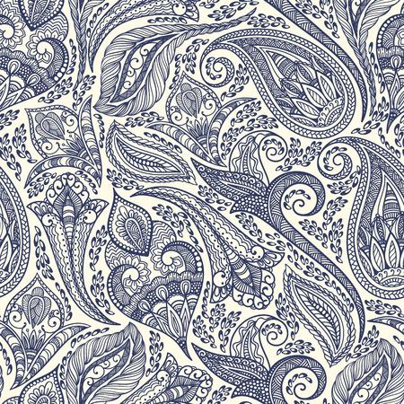 paisley pattern: Paisley seamless tissu de fond. Vecteur décoratif illustration. Illustration