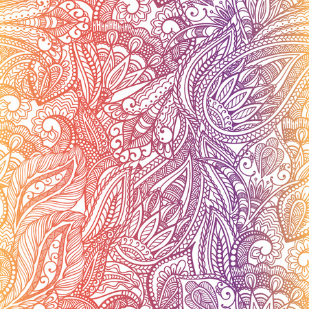 Paisley seamless fabric background pattern. Decorative vector illustration. 일러스트