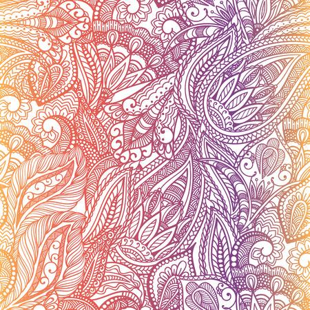 Paisley seamless fabric background pattern. Decorative vector illustration. Illustration