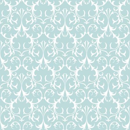 antiek behang: Decoratieve Naadloze Achtergrond Patroon. Damast Antiek Behang. Stock Illustratie