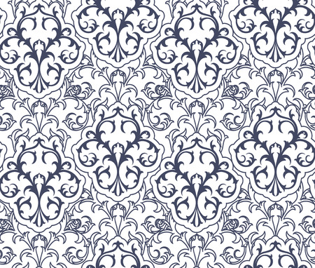 Seamless Damask Decorative Graphic Pattern. Fabric, Textile, Wrapping Paper.