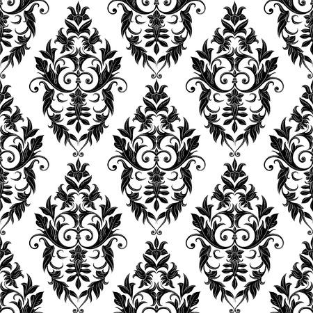 Modelo inconsútil del damasco floral decorativo. Fondo de pantalla Real. Antecedentes mejor para las invitaciones o anuncios. Textura de lujo elegante para fondos de pantalla, fondos y página de llenado. Ilustración del vector.