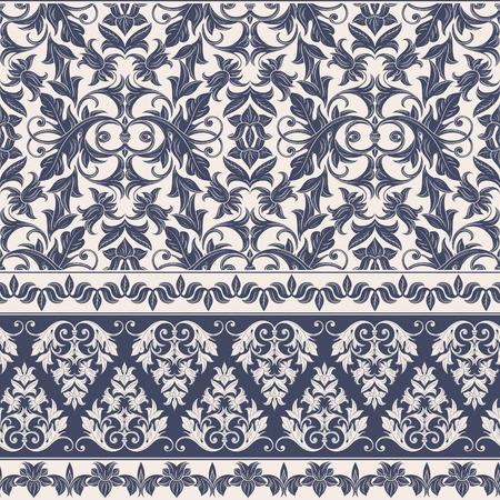 Naadloze decoratieve damast bloemenpatroon. Royal behang. Bloemen achtergrond beste voor uitnodigingen of aankondigingen. Elegante luxe textuur voor achtergronden, randen, achtergronden en pagina vullen. Stockfoto - 41028532
