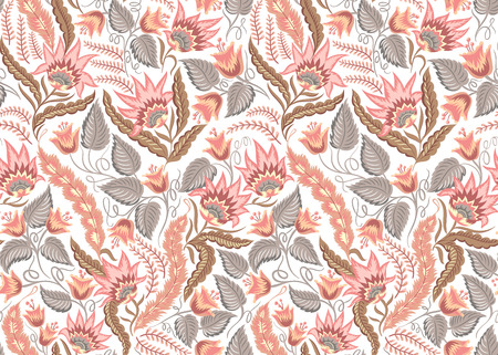 pattern vintage: Seamless floral vintage pattern. Vector decorative background for fabric, textile, wrapping paper, web pages, wedding invitations, save the date cards.