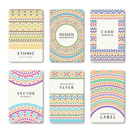 bage: Set of vector vintage cards, poster, flyer, brochure design templates. Best for invitation, bage, wedding, save the date, shower. Illustration