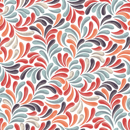 Seamless abstract vintage background pattern. Decorative backdrop for fabric, textile, wrapping paper, card, invitation, wallpaper, web design.