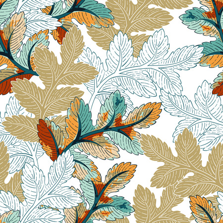 for design: Seamless floral background leaves pattern. Decorative backdrop for fabric, textile, wrapping paper, card, invitation, wallpaper, web design