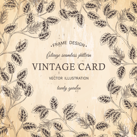 birthday cards: Vector greeting card, posters, flayers, brochures, invitation, wedding and save the date template design cards. Vintage foliage decorative ornamental background
