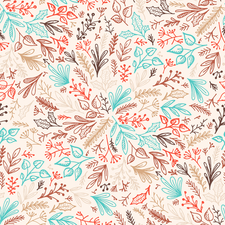 Seamless floral background pattern. Decorative backdrop for fabric, textile, wrapping paper, card, invitation, wallpaper, web design, wrapping and print Vektoros illusztráció