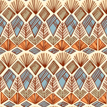 patrones de flores: dibujado a mano étnica patrón transparente boho. impresión del arte tribal. Textura colorida fondo frontera. Tela, diseño de tela, papel pintado, papel de regalo, tarjetas.