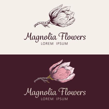 shop sign: Magnolia flower