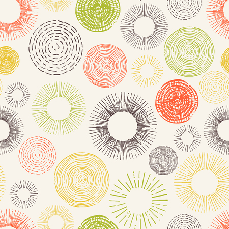 Seamless stylish  circle hand drawn pattern. Decorative backdrop for fabric, textile, wrapping paper, card, invitation, wallpaper, web design.
