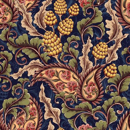 Vintage dexorative naadloze floral patroon. Decoratieve achtergrond voor stof, textiel, inpakpapier, kaart, uitnodiging, behang, webdesign