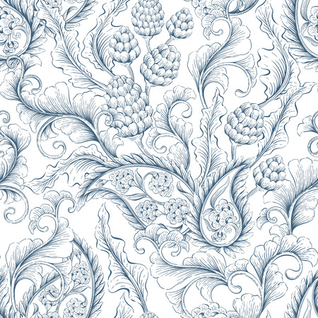 victorian pattern: Seamless floral Victorian background. Decorative backdrop for fabric, textile, wrapping paper, card, invitation, wallpaper, web design
