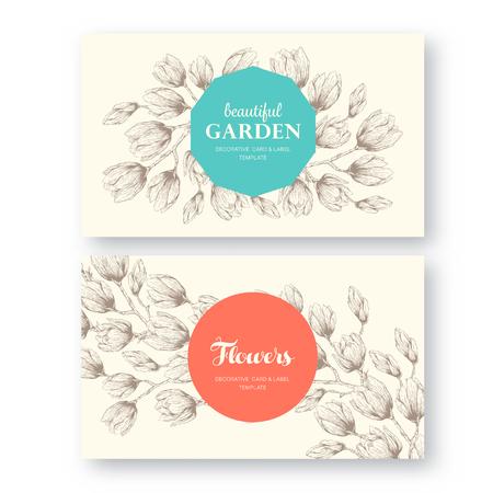 Set von Etiketten, Grußkarten, Plakate, Broschüren, Einladungen, Hochzeit und die Datums Template-Design-Karten speichern. Vintage floral dekorativen Zier-Hintergrund-Muster.