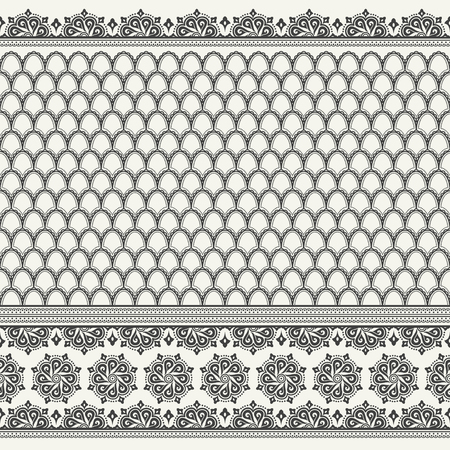 sari: Indian sari print. Ethnic boho seamless pattern. Ornamental print background for card, invitation, wallpaper, web design, fabric, textile, clothes Illustration