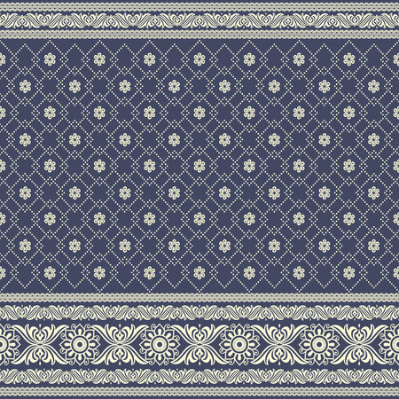 Indian sari print. Ethnic boho seamless pattern. Ornamental print background for card, invitation, wallpaper, web design, fabric, textile, clothes Illustration