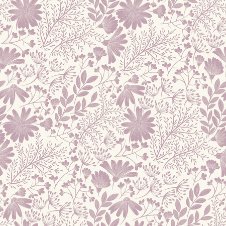 purple wallpaper: Seamless purple floral background pattern Decorative backdrop for fabric, textile, wrapping paper, card, invitation, wallpaper, web design. Illustration