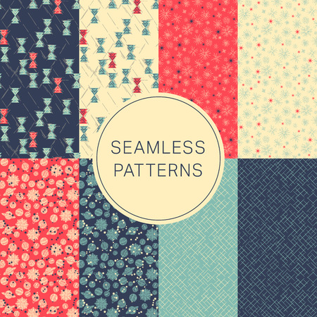 web backdrop: Collection of seamless abstract background pattern Decorative backdrop for fabric, textile, wrapping paper, card, invitation, wallpaper, web design
