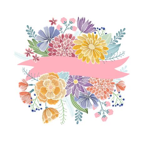 wenskaart, verjaardag, vakantie, poster, brochure, uitnodiging, huwelijk en bewaren de datum template design kaarten. Vintage floral geïsoleerde achtergrond