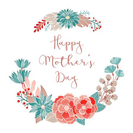 De gelukkige Dag van bloemen kaart. Uitnodiging, sparen de datum, RSVP, Reception, dank u, verjaardag, vakantie kaart sjabloon met bloemen achtergrond.