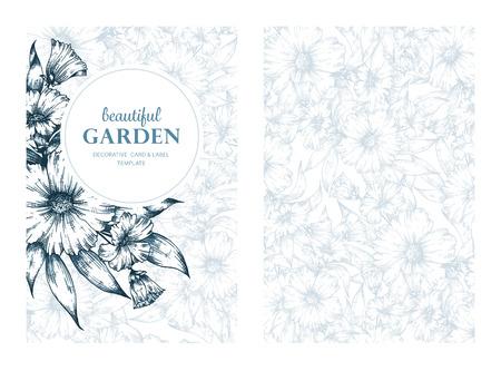 tarjeta de felicitación, carteles, cubierta, folletos, invitaciones, cumpleaños, boda y guardar las tarjetas de diseño de plantilla de la fecha. trama de fondo floral de la vendimia.