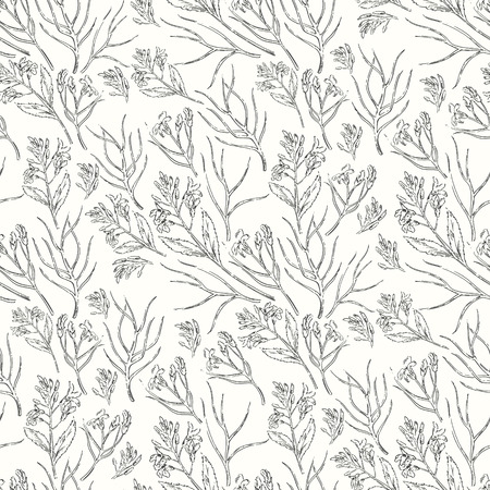 paper graphic: Seamless  floral pattern. Graphic flowers on white background. Decorative backdrop for fabric, textile, wrapping paper, card, invitation, wallpaper, web design. Illustration