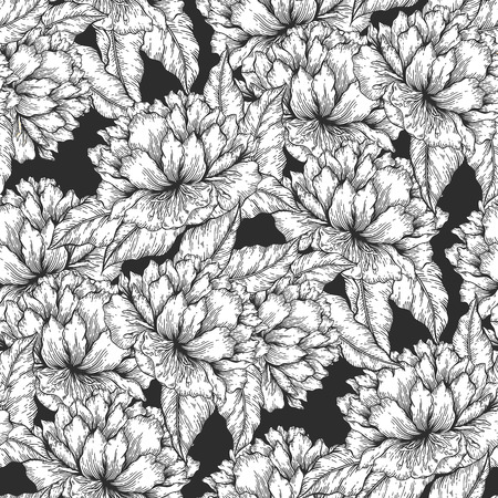 paper graphic: Seamless graphic floral garden seamless pattern. flower background illustration. Decorative backdrop for fabric, textile, wrapping paper, card, invitation, wallpaper, web design. Illustration