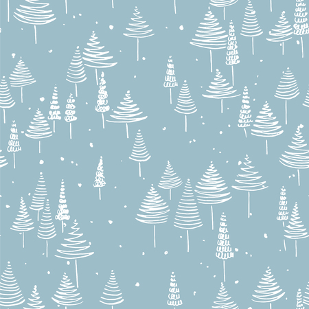 winter wallpaper: Hand drawn winter seamless patterns. Doodle Christmas, Noel, New Year backdrop. Decorative background for fabric, textile, wrapping paper, card, invitation, wallpaper, web design