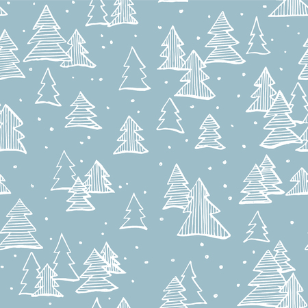 web backdrop: Hand drawn winter seamless patterns. Doodle Christmas, Noel, New Year backdrop. Decorative background for fabric, textile, wrapping paper, card, invitation, wallpaper, web design