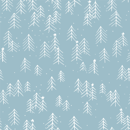 christmas wallpaper: Hand drawn winter seamless patterns. Doodle Christmas, Noel, New Year backdrop. Decorative background for fabric, textile, wrapping paper, card, invitation, wallpaper, web design