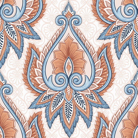 seamless floral pattern: Ethnic floral pattern
