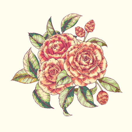 botanical gardens: Floral camellia print