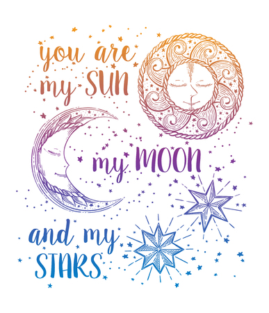 Sun, Moon and Stars Zdjęcie Seryjne - 71928516