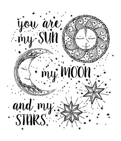 Sun, Moon and Stars Vecteurs